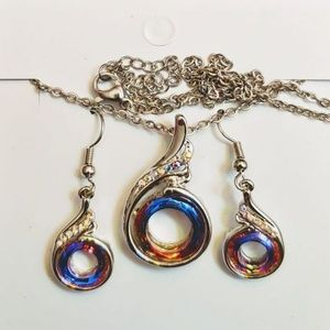 Jewelry - 925 STERLING SILVER ~ MEDALLION with EARRINGS SET